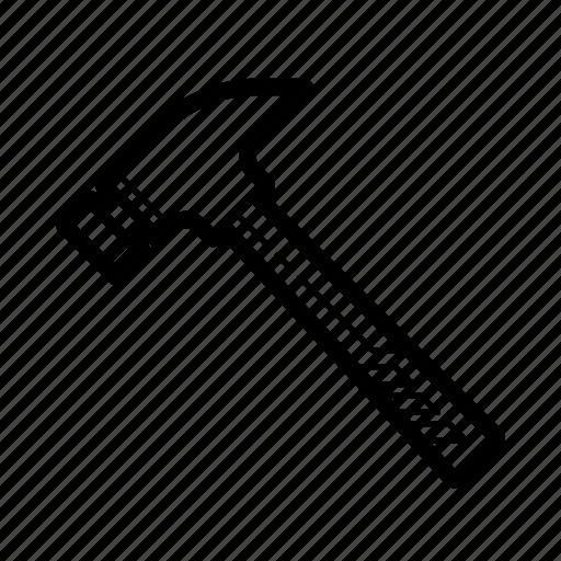 build, construction, hammer, repair, tool icon