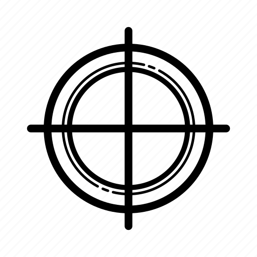 crosshair, crosshairs, marker, target icon