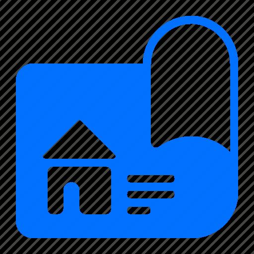 blueprints, home, house, plans icon