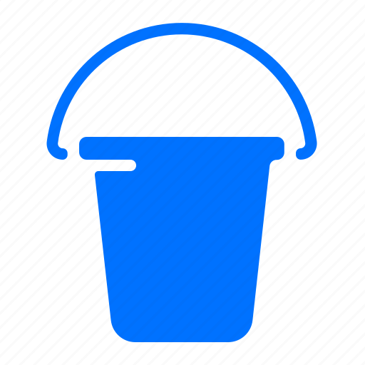 bucket, carry, construction, tool icon