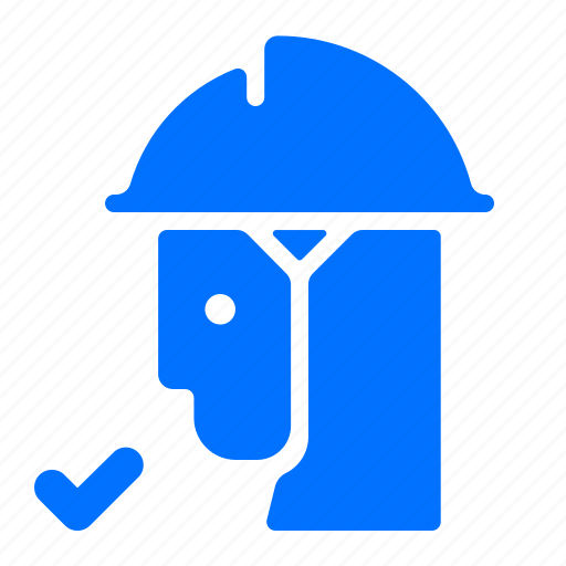 avatar, confirm, man, worker icon