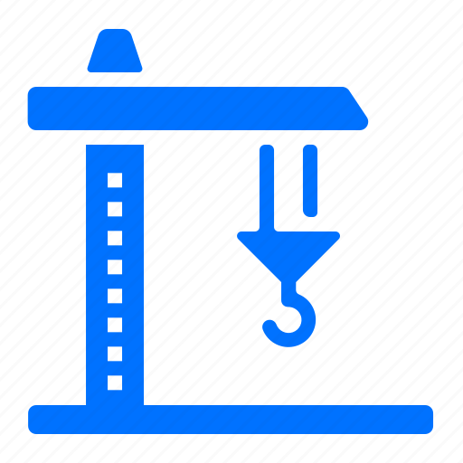 construction, crane, hook, tool icon
