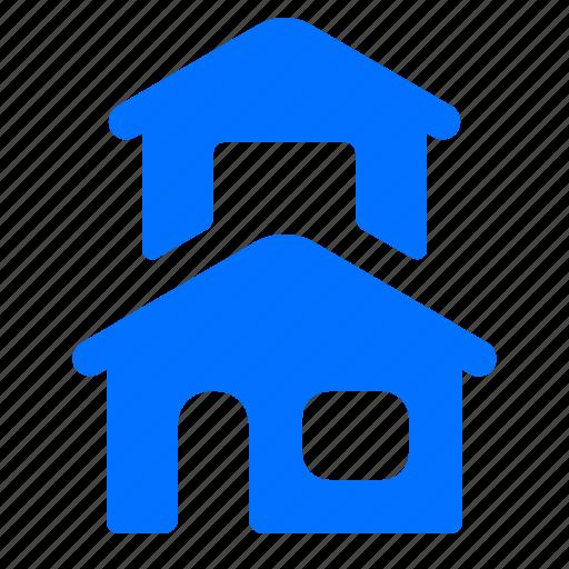 Building, duplex, home, house icon