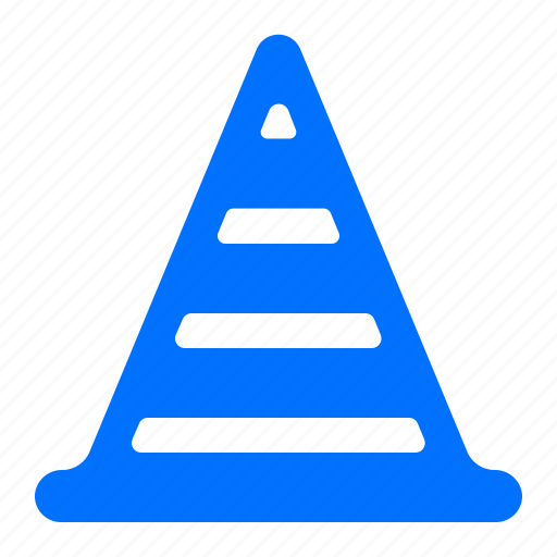 cone, danger, street, warning icon