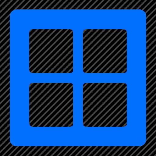 architecture, construction, square, window icon