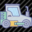 construction vehicle, construction truck, concrete vehicle, concrete truck, cement truck icon