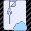 archive, cloud, internet icon