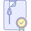 archive, checked, favorite icon
