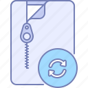 archive, change, reset, update icon