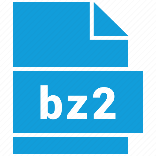 archive, archive file format, bz2, extension, file, file format icon
