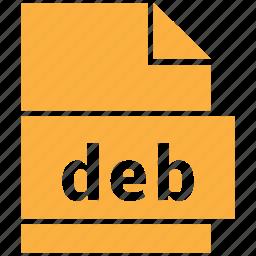 archive file format, deb, file format icon