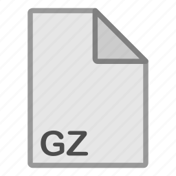 archive, extension, file, format, gz, hovytech, type icon