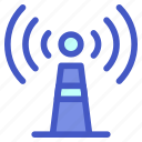 electronic, internet, network, server, signal, tech, technology icon