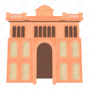 big, cartoon, famous, gate, landmark, palace, wonder icon