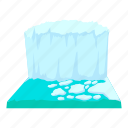 antarctica, arctic, cartoon, cold, ice, iceberg, mountain icon