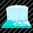 antarctica, arctic, cartoon, cold, ice, iceberg, mountain icon