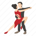 cartoon, couple, dance, figure, man, tango, waltz icon