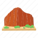 brasilia, brazil mountain, cartoon, green, map, travel, view icon