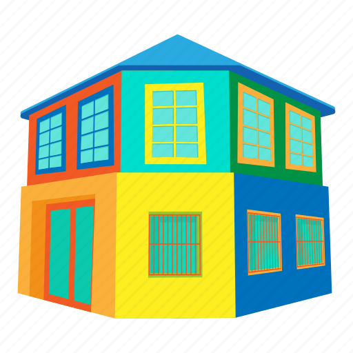 brazil house, building, cartoon, door, front, home, roof icon