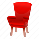 armchair, business, fashion, old, red, retro