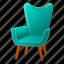 armchair, cat, house, retro, vintage