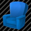 armchair, blue, business, fashion, house, retro