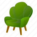 armchair, business, green, house, retro, vintage