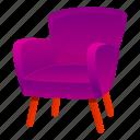armchair, business, fashion, house, purple, retro