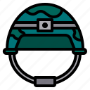 army, helmet, military, soldier, weapon icon