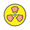 danger, nuclear, radiation, radioactive icon