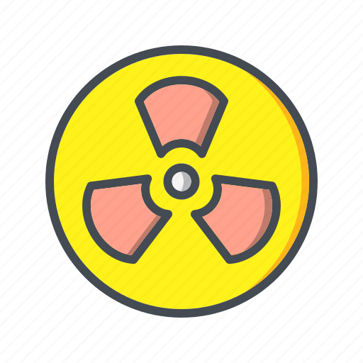 nuclear, radiation, radioactive icon