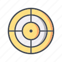 aim, goal, marketing, target icon