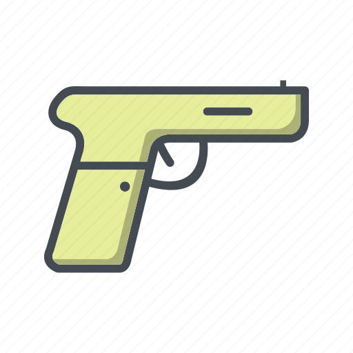 army, pistol, weapon icon