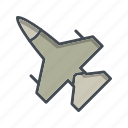 aeroplane, aircraft, airplane, jet icon