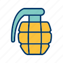 army, bomb, explosion, grenade, military icon