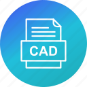 cad, document, file, file type, format icon