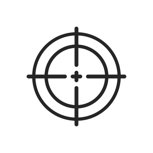 army, machine, target, weapons icon