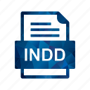 document, file, file type, format, indd icon