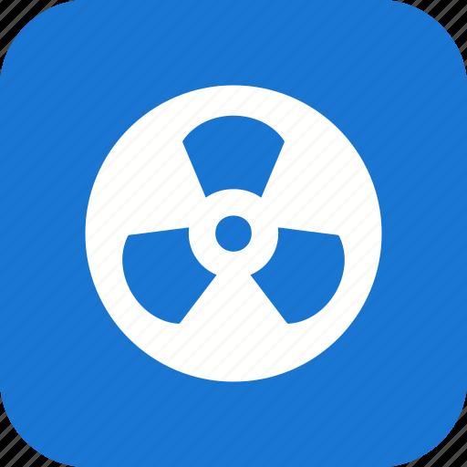 danger, nuclear, radiation, radioactive icon