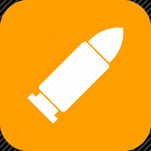 ammo, ammunation, army, bullet, military icon