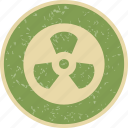 danger, nuclear, radiation, radioactive, warning icon