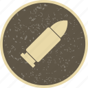 bullet, military, weapon icon