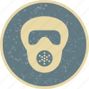 gas mask, mask, scuba icon