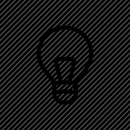 bulb, glass bulb, light, light bulb icon