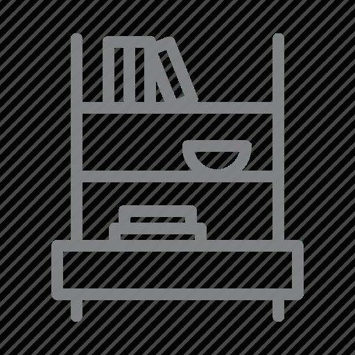 book shelf, books, furniture, library, office, shelf icon