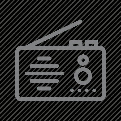 communication, electronic, radio, radio station icon