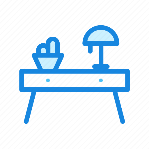 desk, furniture, office, table icon