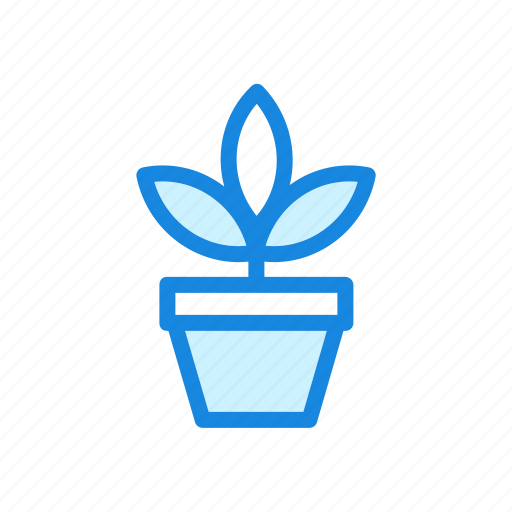 leaves, nature, plant, potted plant icon