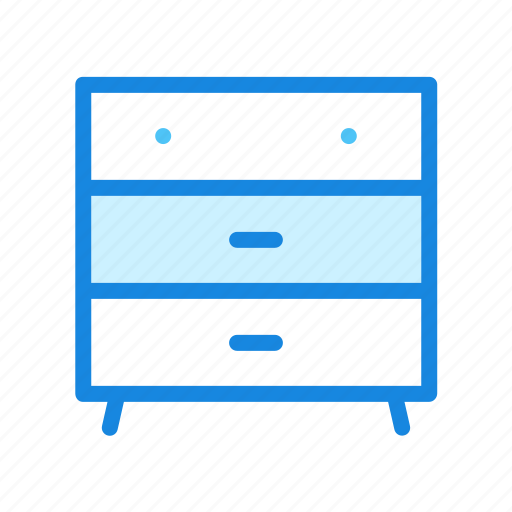 bedroom, closet, clothing drawer, furniture icon