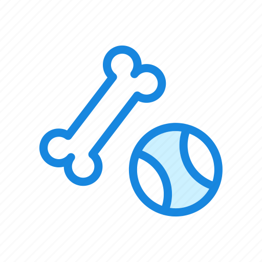 ball, dog bone, dog toys, tennis ball icon